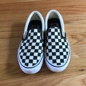 Barely worn, excellent condition slip on Vans